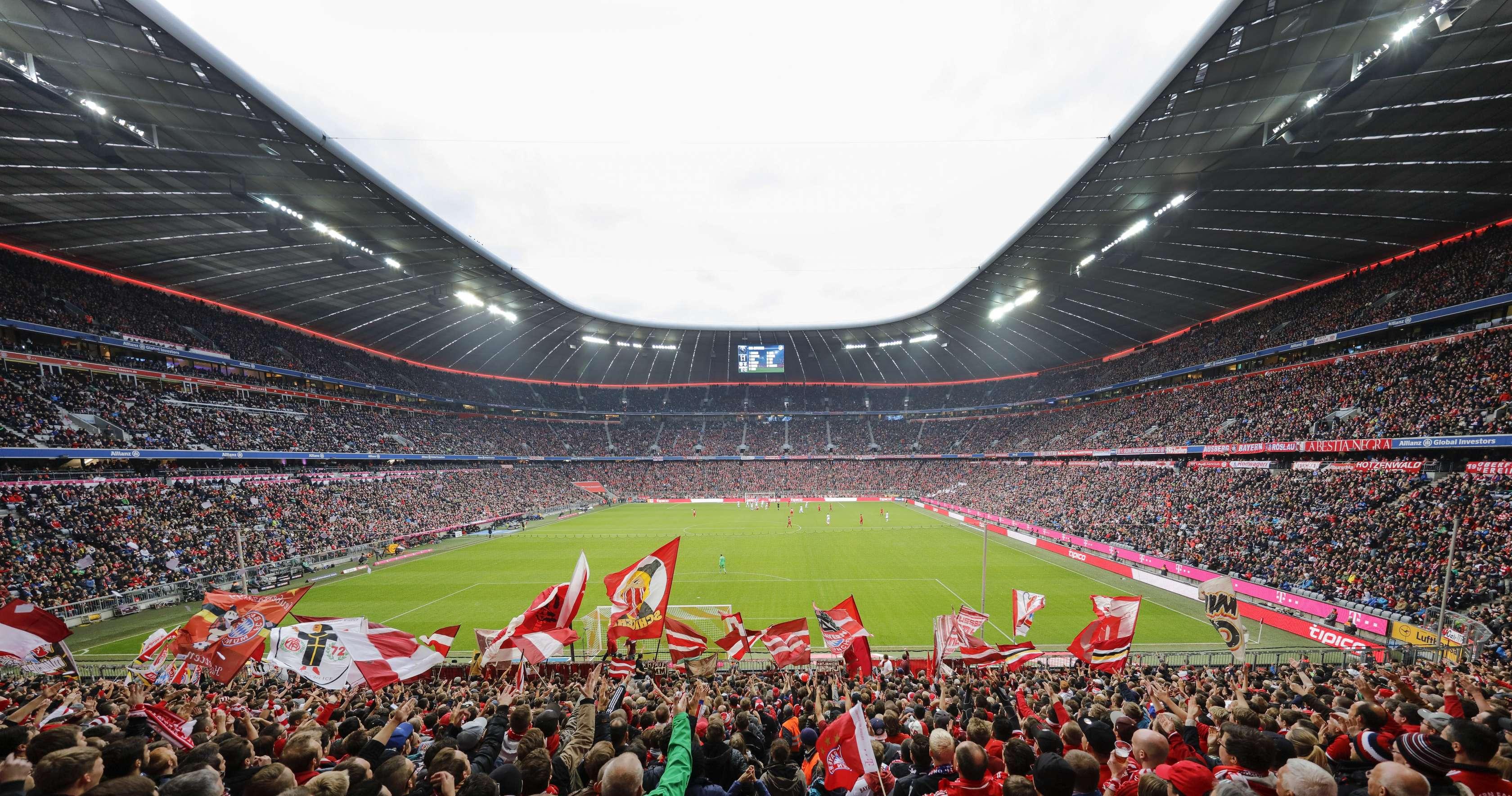 Eventsituation im Fußballstadion Allianz Arena