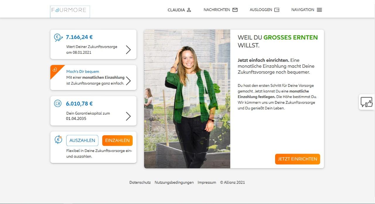 Allianz FOURMORE - Portalpreview